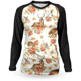 Loose Riders Thermal Jersey Women, forest animals